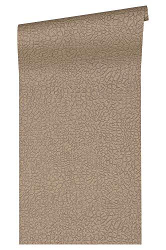 Architects Paper Vliestapete Absolutely Chic Tapete mit Animal Print 10,05 m x 0,53 m metallic braun grau Made in Germany 369701 36970-1 - Metallic Animal Print