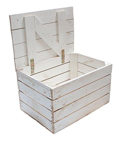 1x Neue Holztruhe in Weiß (kleinste Größe)