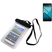 Universal Bolsa de playa / impermeable para lluvia / cubierta de nieve de 16 cm x 10 cm, por ejemplo, para BQ Readers Aquaris M5. Cubierta protectora transparente contra el polvo, la arena, la lluvia y aguas poco profundas para su teléfono celular, Smartphone, GPS, GPS, monederos, dinero en efectivo, objetos de valor. Sensible al tacto material. Su BQ Readers Aquaris M5 se mantiene plenamente operativo, mientras que en el caso. Dimensiones: 16 cm x 10 cm | protecion Beachbag caso protector p