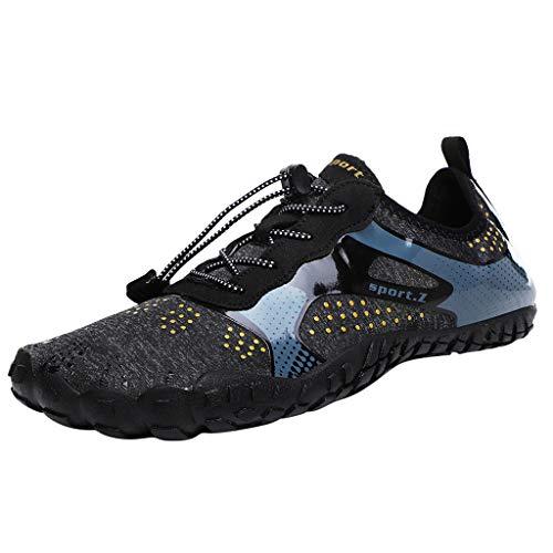 Anglewolf Herren Damen Laufschuhe Turnschuhe Freizeitschuhe Atmungsaktiv Sneakers Mode Tauchschuhe Schnell Trocknende Strandschuhe Sportschuhe Leichte Sneaker(Schwarz,38 EU) -