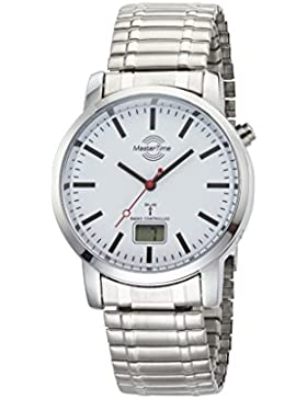 Master Time Funk Basic Bahnhofsuhren Herrenuhr MTGA-10590-10M, Metall Armbanduhr