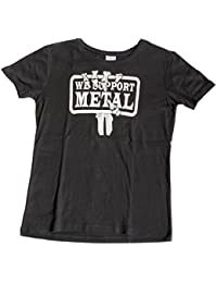 """Wacken Foundation"" T-Shirt for WOMAN ""we support metal"" cover up FIST"