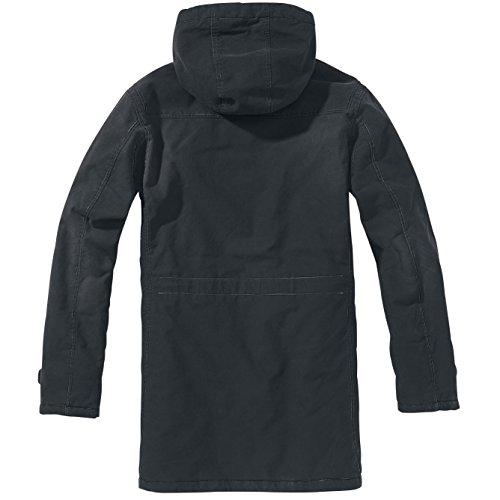 Brandit Woodson Heavy Outdoor Parka Winterjacke schwarz Schwarz