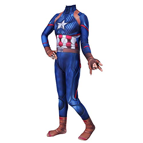 AKCHIUY Cosplay Kostüm Kinder Captain America Film Kostüm Requisiten Kostüm Jungen Party Cosplay Kostüm Weihnachten Halloween Kostüm,Women-XXXL