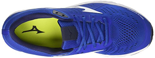 Mizuno Wave Stream, Chaussures de Running Homme Multicolore (Classicblue/white/safetyyellow 01)
