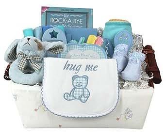 baby geschenk idee bwab baby wants und needs geschenkkorb blau bekleidung. Black Bedroom Furniture Sets. Home Design Ideas