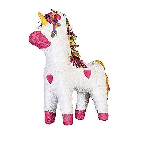 Pinatas - große Motivauswahl, kleiner Preis - Kindergeburtstag Geburtstag Party Pinata zum Befüllen, Farbe:Einhorn weiß gelbes Horn
