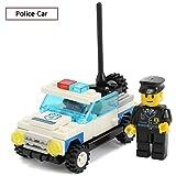 SEIGNEER Voiture de Police Jeu de Construction Puzzle Enfant Jouet et Cadeau Educatif 59 Pièces