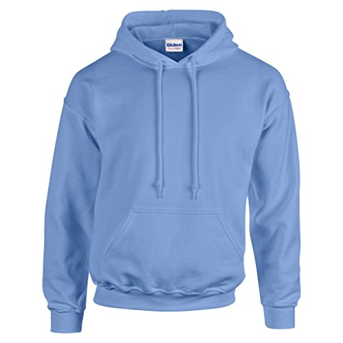 MAKZ Gildan Heavy Blend Kapuzen Sweatshirt, Blau - Carolina Blue, M -