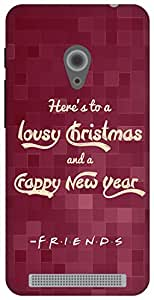 The Racoon Lean A New Year's Toast (Friends Style) hard plastic printed back case for Asus Zenfone 4 A450CG