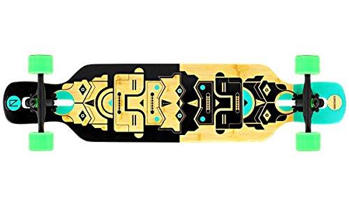 NINETYSIXTY Drop Through longboard bamboo / fiberglass - Drop Through longboard with koston ball bearings, Flex Loaded:Flex 1