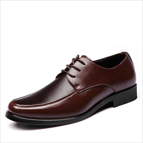 WZG affaires Chaussures Les nouveaux hommes, chaussures de sport dentelle ronde chaussures basses noires , brown , 42