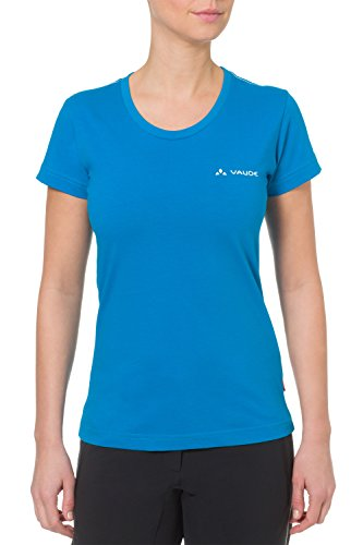 VAUDE Damen T Shirt  Brand, Teal Blue, 40, 05096 (Damen-team-logo-t-shirt Blaue)