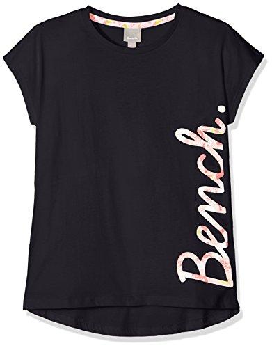 Bench Mädchen T-Shirt Script Tee, Blau (Maritime Blue Bl11213), 140 (Herstellergröße: 9-10) (Blaue Mädchen-tee)