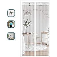 باب شاشة مغناطيسي مع شبكة شديدة التحمل مضادة للناموس ستارة باب لطيفة للكلاب لغرفة المعيشة وغرفة النوم والمطبخ (90 سم × 200 سم، أبيض)