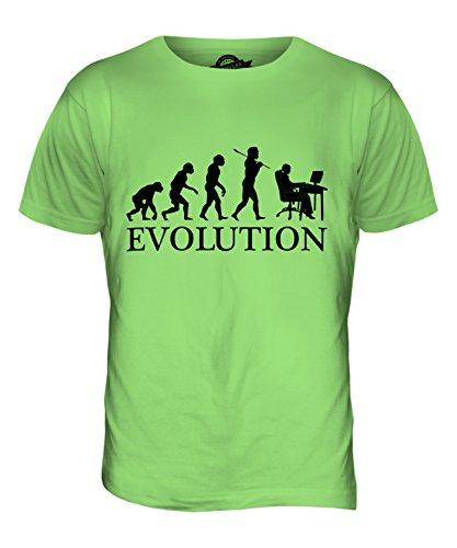 CandyMix Impiegato Evoluzione Umana T-Shirt da Uomo Maglietta Verde Lime