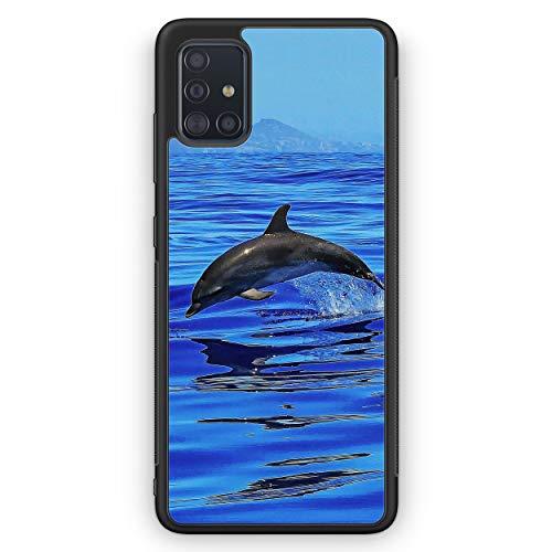 Delfin Delphin Meer - Silikon Hülle für Samsung Galaxy A51 - Motiv Design Tiere Schön - Cover Handyhülle Schutzhülle Case Schale