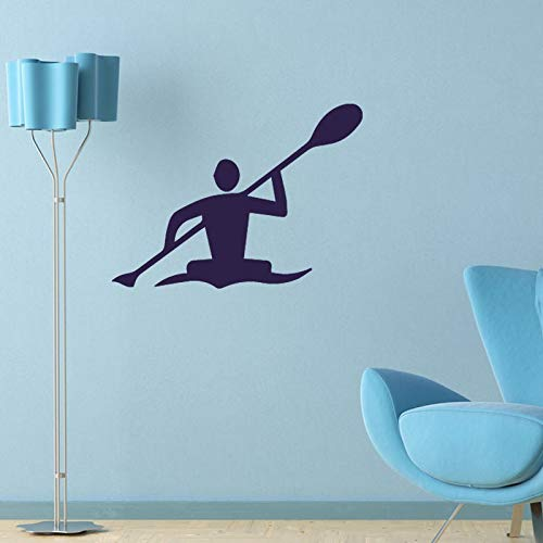 XCGZ Stickers muraux Stickers Muraux Décor À La Maison Salon Chambre Olympic Kayak Famille Stickers Vinyle Decal Art Sticker Mural Adesivo De Parede 56 * 65Cm