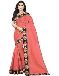 Aaradhya Fashion Women's Bhagalpuri Kalamkari Saree With Blouse Piece