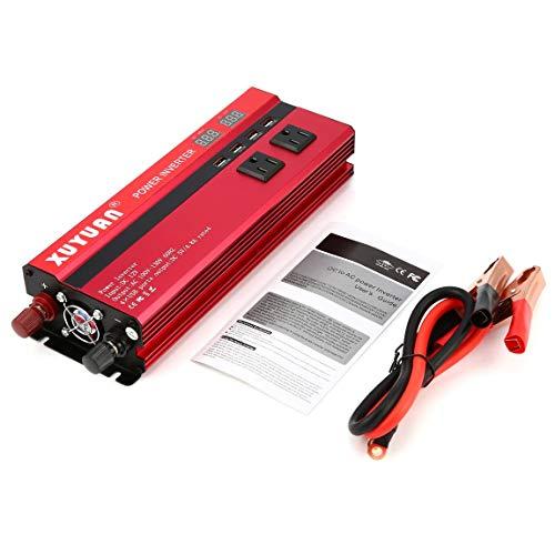 HarveyRudol85 [Ausgezeichnet] 6000W Solar Power Inverter DC 12V bis 110V AC LED-Sinus-Wellen-Konverter Anzeige 110v Ac Power Inverter