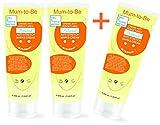 Crème Professionnelle Anti Vergetures Double Action Préventive et Réparatrice Soin grossesse à l'Aloe Vera, Beurre de Karité et Vitamine E - pack économique (200 ml x 3)