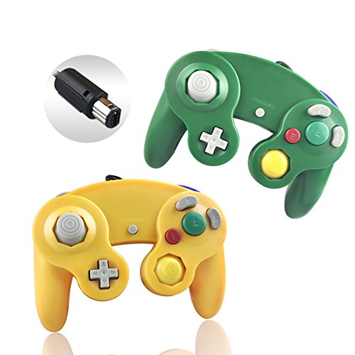Reiso 2er-Pack NGC Controller Light orange und grün (U-konsole Game-pad Mit Wii)