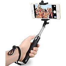 TaoTronics Palo Selfie Bluetooth Portátil Extendible Universal y Telescópica, Ajustable Auto-Bloqueo Con Disparador Bluetooth, Negro,Para Teléfonos Inteligentes