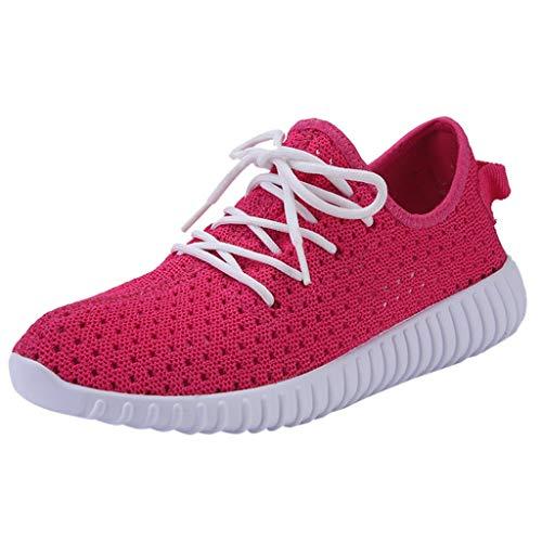 Ears Damen Tuch Schuhe Mode Sportschuhe Sommer Espadrilles Fitness Atmungsaktiv Sneakers Atmungsaktiv Turnschuhe Sandalen Paar Bunte Weiße Schuhe Herren Sport Board Schuhe Turnschuhe (35, J Hot pink) -