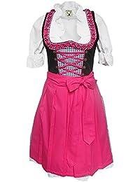 Alpenmärchen, 3tlg. Dirndl-Set - Trachtenkleid, Bluse, Schürze, Gr.32-54,verschiedene Farben