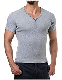 Young and Rich - Tee shirt homme col V Young and Rich 73 Gris