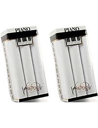 Betz 6 Stück Herren Stoff Taschentücher Doppelpack (2x 3 Stück) in der Geschenkbox 100% Baumwolle Dessin 10