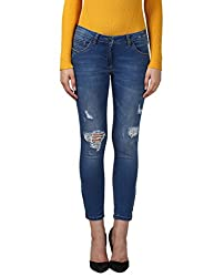 Park Avenue Woman Slim Fit Jeans (PWYA00337-B3_Blue_91)