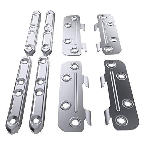 stoppwerk Bettverbinder 100 mm 4 Stck. - Metall Beschlag Set für Bett und Möbel - Bettbeschlag Möbelverbinder für Holz