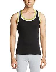 Dixcy Scott Mens Cotton Vest (UN112_BLACK_S_Black_Small)