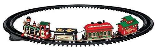 Lemax - Yuletide Express - Eisenbahn mit Soundeffekt - 16 teiliges Set - Christmas Village - Weihnachtswelt -