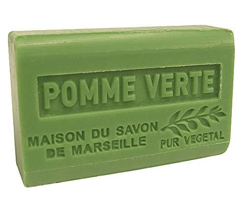 Provence Grün Butter Seife (Provence Seife Pomme Verte (Grüner Apfel) - Karité 125g)