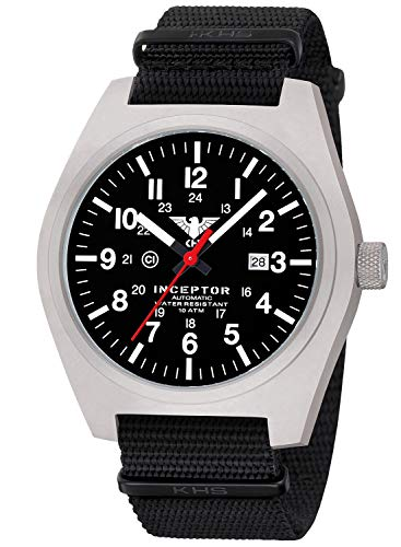 KHS Reloj de Caballero INCSA.NB Herren-Automatikuhr Inceptor St