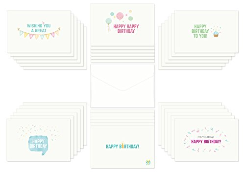 Birthday Cards Any Age Assorted 36 Postcard Style Designs