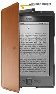 Amazon Kindle Lederhülle mit Leseleuchte (5. Generation - 2012 Modell), Hellbraun