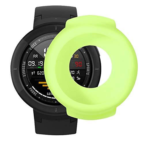 Vamoro Soft Silikon Classic Sportarmband Ersatz Uhrenarmbänder Weiche TPU-Schutzhülle aus Silikon für Huami Amazfit Verge Smart Watch(Grün)