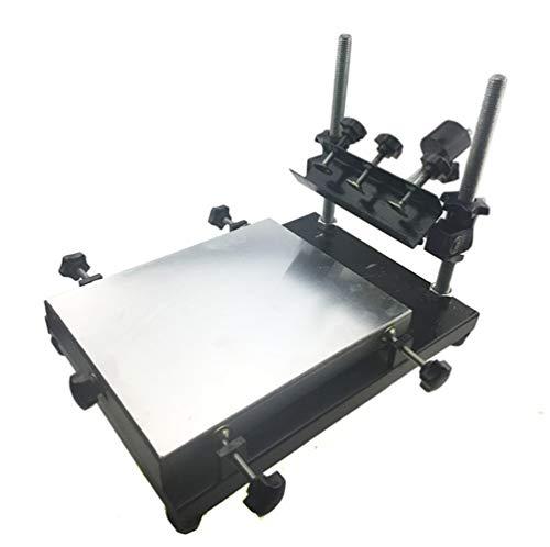 cgoldenwall Siebdruck Tisch Manuelle SMT Lötpaste Tisch Bildschirm Drucker drucken Maschine für Bildschirm Druck Aluminium Krone Large: 55 * 42cm -