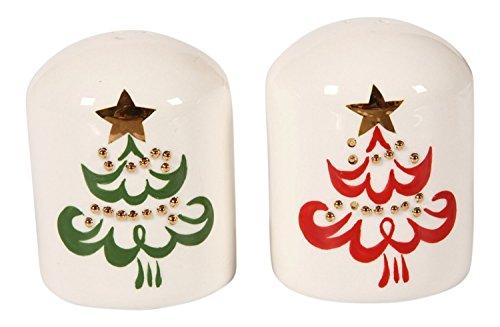 Skurril Weihnachtsbaum geprägt Salt & Pepper Shaker Set Gold Salt Shaker