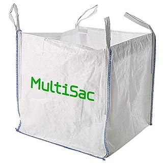 MULTISAC Big Bag 90x90x90cms. FIBC 1000 KG Idéal pour la gestion des débris, le transport terrestre, aride, etc.