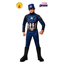 Rubie's Official Avengers Endgame Captain America, Deluxe Child Costume - Large, Age 8-10, Height 147 cm