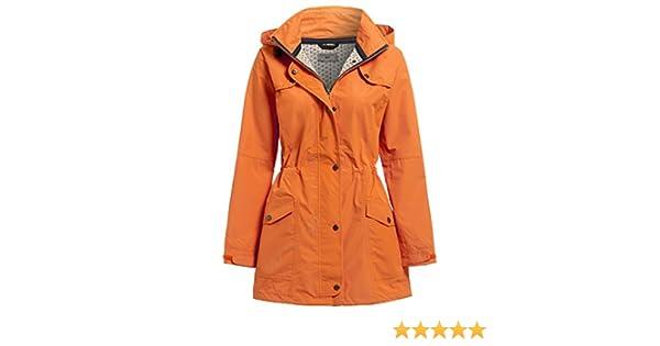 SS7 New Womens Lightweight Waterproof Raincoat Orange Sizes 10 to 18