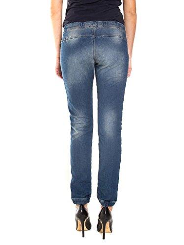 Carrera Jeans - Jeans P756L0985A per donna, modello dritto, look denim, tessuto elasticizzato, vestibilità loose, vita bassa 718 - Lavaggio blu medio (stone wash)