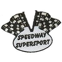 Speedway Aufnäher Motiv Zielflagge 2 farbig