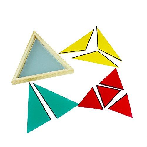 yigooood Montessori matemáticas constructivas triángulos colorido triángulo equilátero Montessori matherial juguete