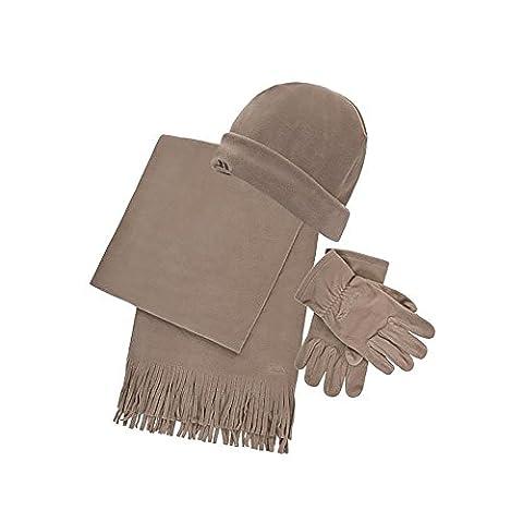 Trespass Mens Pharaoh Winter 3 Piece Fleece Set (Gloves, Hat