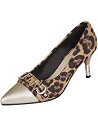 2788092b4f2f OSYARD Escarpin Femme Talon Aiguille Leopard Suede Chaussure Pointue  Escarpins Mariage Talon Mince Elegant